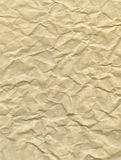 Crumpled parchment paper. Close-up of creased and crumpled parchment paper Stock Image