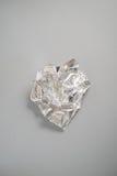 A Crumpled Piece of Aluminium Foil Stock Photos