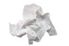 Crumpled piece of paper Royalty Free Stock Photography