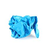 Crumpled piece of paper Stock Photography
