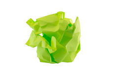 Crumpled piece of paper Stock Image