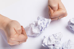 Crumpled piece of paper Stock Photos