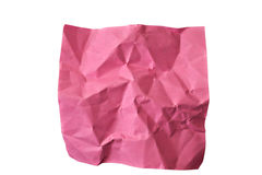Crumpled piece of red paper Stock Photo
