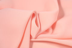 Crumpled pink fabric Royalty Free Stock Image