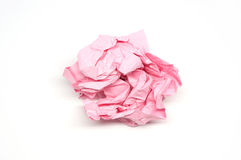 Crumpled pink paper ball Royalty Free Stock Images