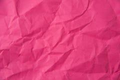 Crumpled pink paper texture Stock Photos