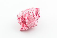 Crumpled pink papers. Royalty Free Stock Photo
