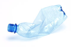 Crumpled plastic bottle Royalty Free Stock Photo