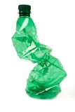 Crumpled plastic bottle Royalty Free Stock Photos