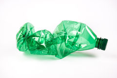 Crumpled plastic bottle Royalty Free Stock Images