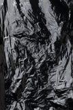 crumpled plastic film texture Royalty Free Stock Image