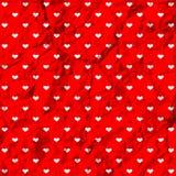 Crumpled polka dot hearts Royalty Free Stock Photos