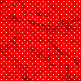 Crumpled polka dot pattern Stock Image