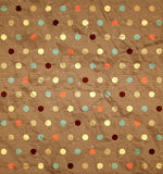Crumpled polka dot pattern Stock Photography
