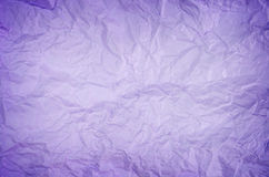 Crumpled purple paper. For background royalty free stock photos