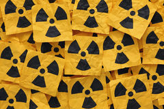 Crumpled Radioactive Signs Stock Image