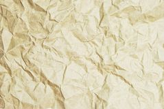 Crumpled recycle paper Royalty Free Stock Photo