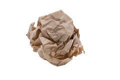 Crumpled Recycle Paper Stock Images