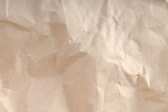 Crumpled recycled paper Royalty Free Stock Photography