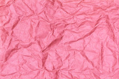 Crumpled recycled paper background texture pink Royalty Free Stock Photos