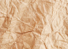 Crumpled recycled paper background texture. Vintage craft paper Royalty Free Stock Photography