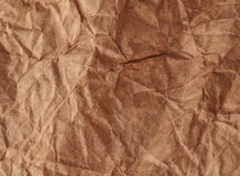 Crumpled recycled paper background texture. Vintage craft paper Royalty Free Stock Image