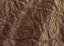 Crumpled recycled paper background texture. Vintage craft paper Stock Images