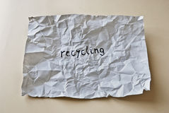 Crumpled recycling Stock Photography