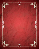 Crumpled red frame with ornament Stock Photography