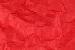 Crumpled red mulberry paper texture Stock Photo