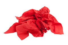 Crumpled red napkin paper Stock Photography
