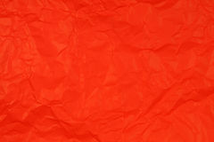 Crumpled red paper Royalty Free Stock Photos
