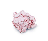 Crumpled red paper ball Stock Photos