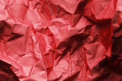 Crumpled red paper stock photography