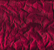 Crumpled red wrapping paper texture. With wrinkles Royalty Free Stock Image