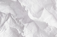 Crumpled relievo soft white paper texture. Royalty Free Stock Photos