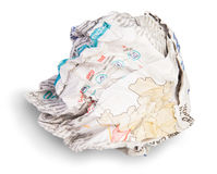 Crumpled Sheet Of Newspaper Stock Image