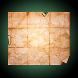 Crumpled sheet of old paper, Stock Photo