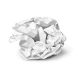 Crumpled sheet of paper. A crumpled sheet of paper on a white background royalty free stock images