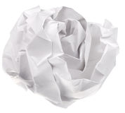 Crumpled sheet of paper Stock Images