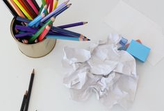 Crumpled sheet of paper Stock Photography