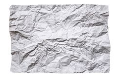 Crumpled sheet of paper on white royalty free stock images