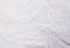 Crumpled sheet of white paper royalty free stock photography