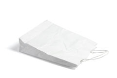 Crumpled Shopping Bag Royalty Free Stock Photography