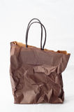 Crumpled shopping paper bag Stock Image