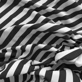 Crumpled striped предпосылка ткани Стоковая Фотография