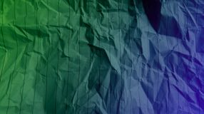Crumpled stripes lines paper Grass green violet color mixture multi colors effects  Background. royalty free stock images