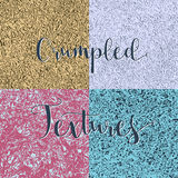 Crumpled textures collection Royalty Free Stock Image