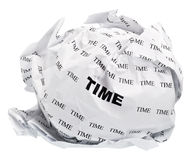 Crumpled time Stock Photo