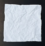 Crumpled tissue paper black isolation Stock Photo